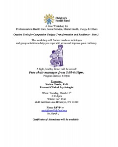 Gerritsen Beach Creative Tools for Compassion Fatigue - Part 2 @ Cort Club | New York | United States