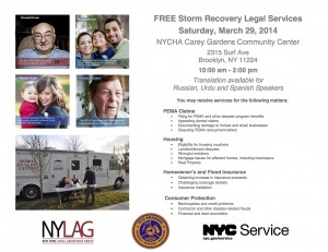 Coney Island Legal Services Sandy Clinic with NYLAG @ NYCHA Carey Gardens Community Center | New York | United States