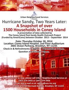 Coney Island Urban Neighborhood svces 2yr2014