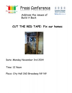 "CITY HALL/Canarsie Press Conference ""Cut the Red Tape: Fix our Homes"" @ City Hall 