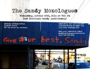 Sandymonologues2014