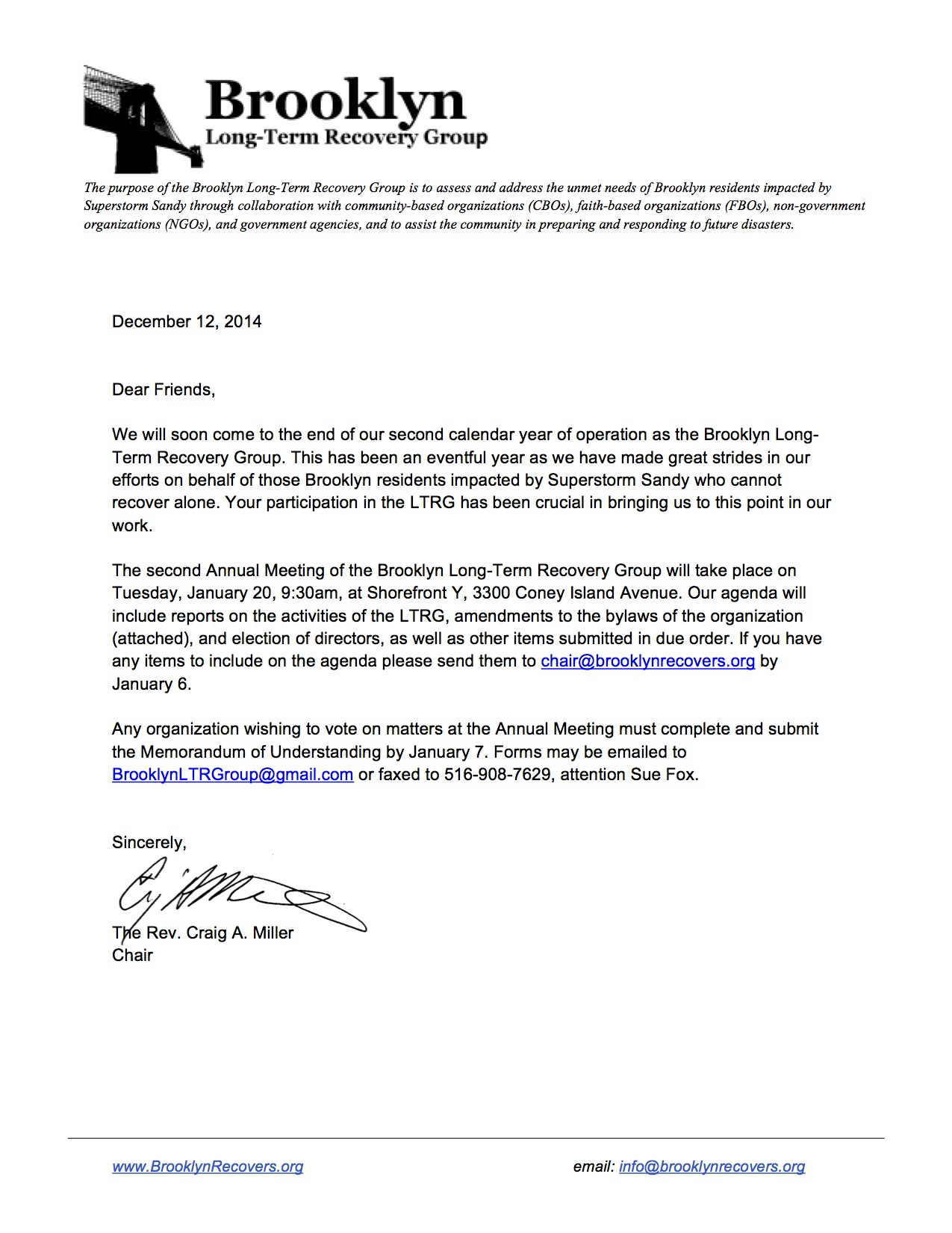 2014 Registration Letter Creative Writing
