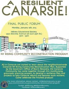 CANARSIE NY Rising Public Engagement Session @ Hebrew Educational Society (HES)   New York   United States