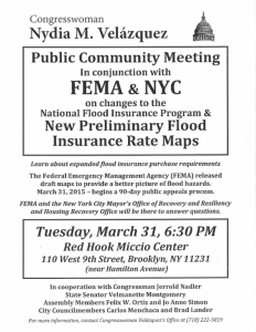 RED HOOK/GOWANUS NFIP and new FEMA maps Public Meeting @ Red Hook Miccio Center | New York | United States