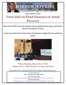 Representative Hakeem Jeffries: Flood Insurance and Sandy Town Hall @ H. E. S.  | New York | United States