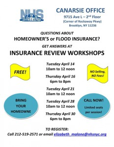 CANARSIE FREE Flood Insurance Workshop @ NHS Canarsie | New York | United States