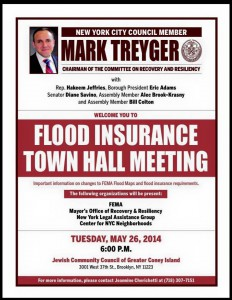 CONEY ISLAND Flood Insurance Town Hall Meeting @ Jewish Community Council of Greater Coney Island | New York | United States