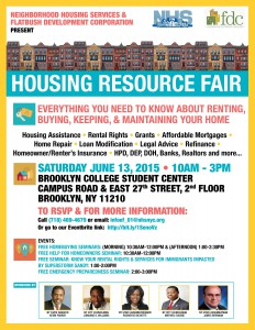 NHS Housing Resource Fair @ Brooklyn College Student Center, 2nd floor | New York | United States