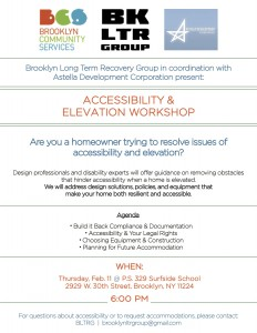 BCS/ASTELLA/BLTRG Accessibility and Elevation Workshop @ P. S. 329 Surfside School | New York | United States