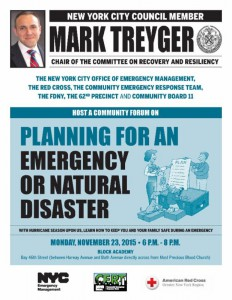 BENSONHURST/GRAVESEND Planning for an Emergency or Natural Disaster @ Block Academy | New York | United States