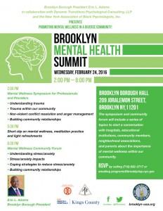 Mental Health Summit @ Brooklyn Borough Hall | New York | United States