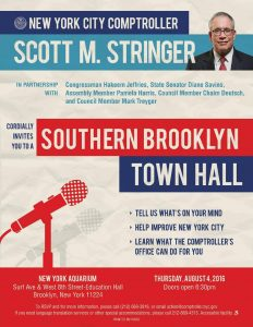 Comptroller Scott Stringer Southern Brooklyn Town Hall @ NY Acquarium | New York | United States